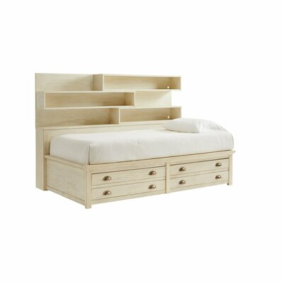 Twin Bed Drawers Bed Frame Oak Twin pic