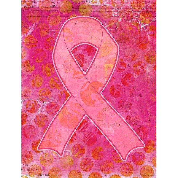 Artsy Breast Cancer Ribbon House Vertical Flag by Caroline's Treasures