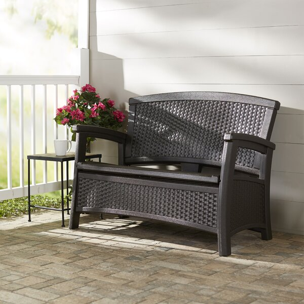 Outdoor Elements Storage Bench by Suncast Suncast