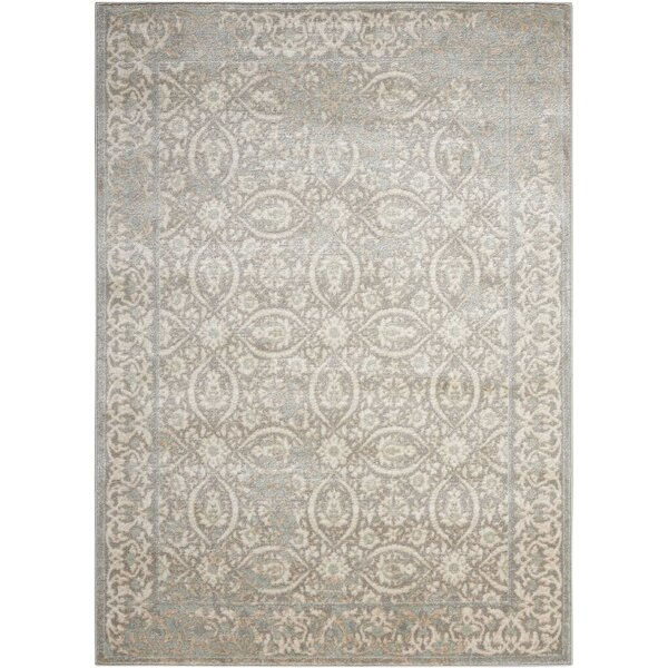 Angelique Gray and Ivory Area Rug by Lark Manor