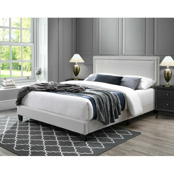 Alcorn Upholstered Platform Bed by House of Hampton