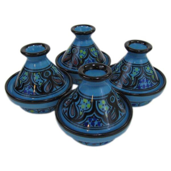 Sabrine 0.035 Qt. Stoneware Round Tagine (Set of 4) by Le Souk Ceramique