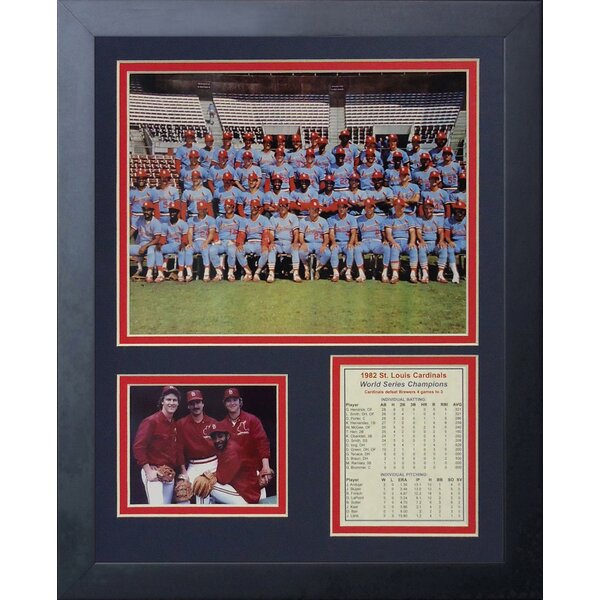 1982 St. Louis Cardinals Framed Photographic Print by Legends Never Die