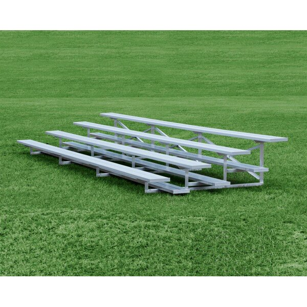 4 Row Aluminum Bleachers Bench by Highland Product