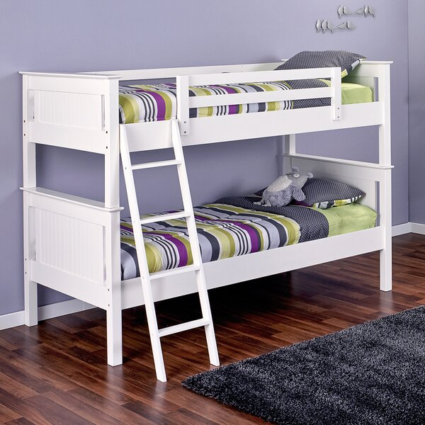 Edick Twin over Twin Bunk Bed with Ladder and Trundle by Harriet Bee