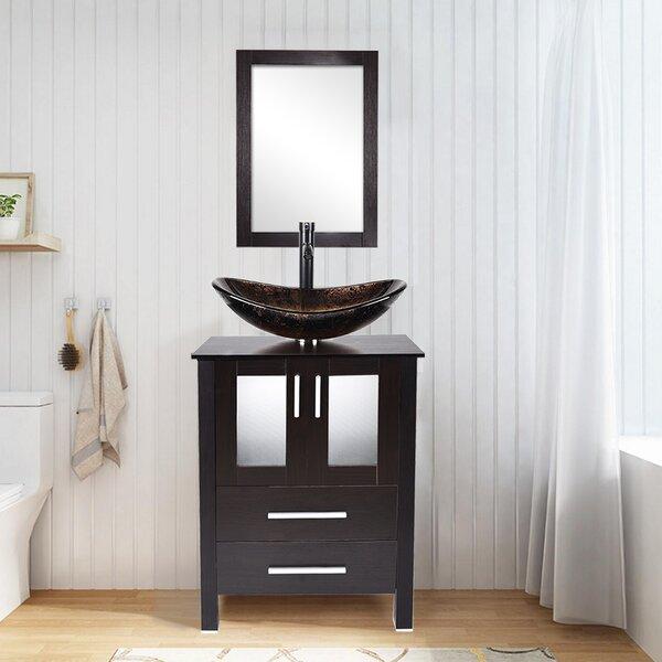 Saini 24 Single Bathroom Vanity Set with Mirror