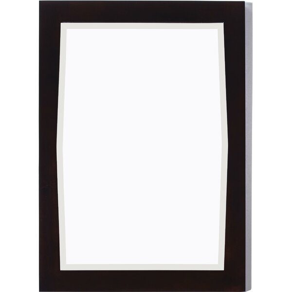 Rosehill Rectangular Birch Wood-Veneer Wall Mirror by Winston Porter
