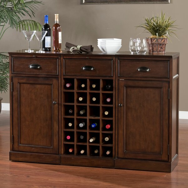 Natalia Bar Cabinet with Wine Storage by American Heritage
