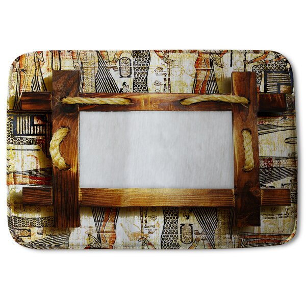 Biddeford Wooden Frame Designer Rectangle Non-Slip Bath Rug