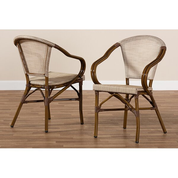 Raelynn Bamboo Stacking Patio Dining Chair (Set of 2) by Bay Isle Home