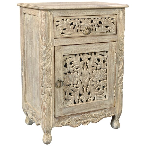 Buena Park 1 Drawer Nightstand by Bungalow Rose