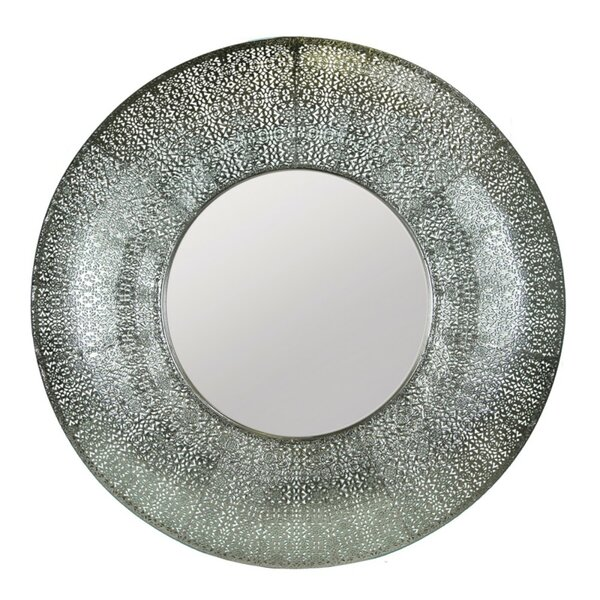 Crothers Round Metal Accent Mirror by World Menagerie