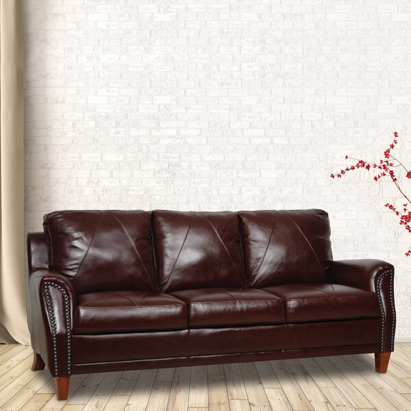 Popular Brand Austin Leather Sofa by Williston Forge by Williston Forge