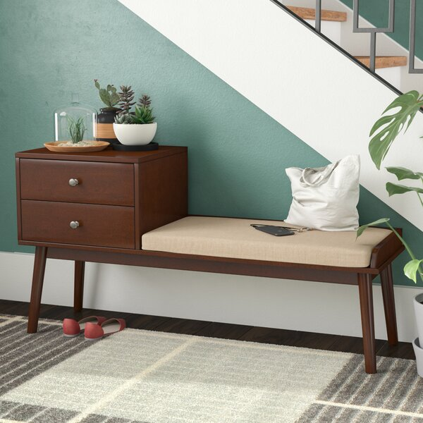 Bullock Van Dyke Upholstered Storage Bench by George Oliver