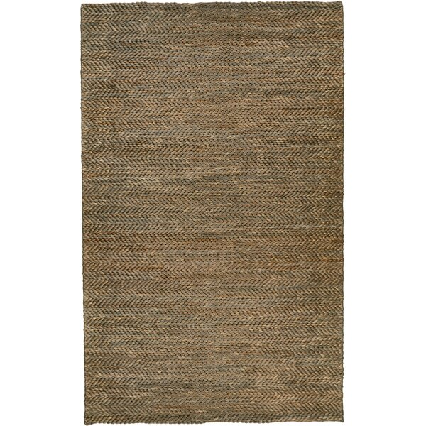 Riaria Hand-Woven Mocha Area Rug by Charlton Home