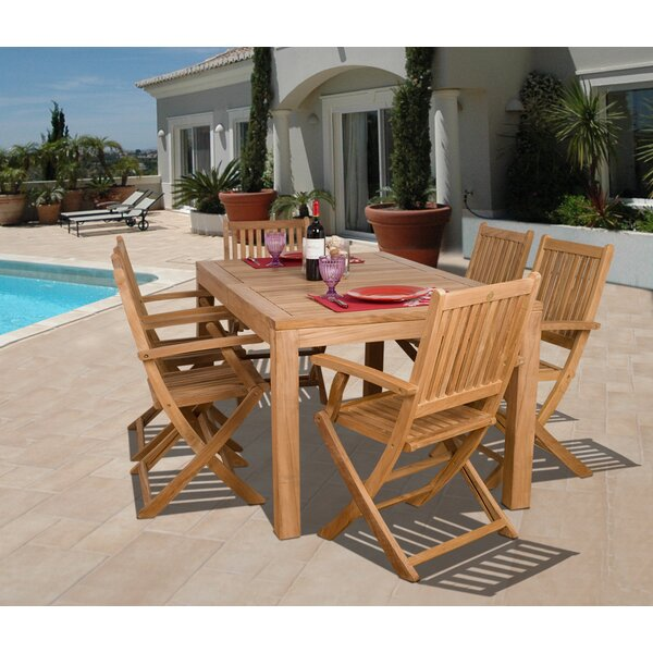 Mcnichols International Home Outdoor 7 Piece Teak Dining Set by Highland Dunes