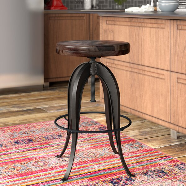 Grigor Adjustable Height Swivel Bar Stool by 17 Stories