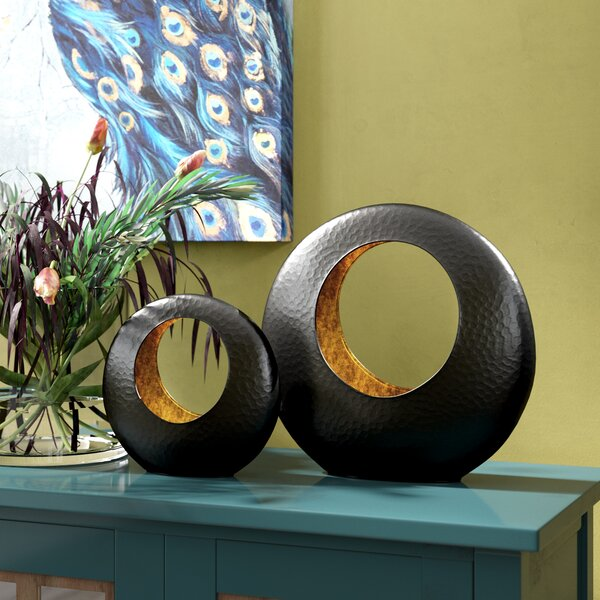 Turcios Spherical Decorative Bowl 2 Piece Set by World Menagerie