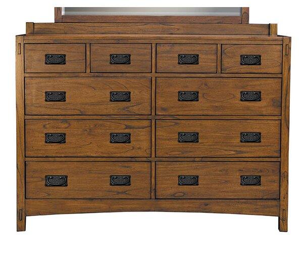 Castro 10 Drawer Double Dresser by Loon Peak