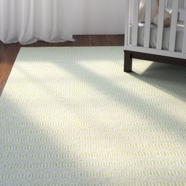 Alonso Hand-Woven Reversible Green Indoor/Outdoor Area Rug by Viv + Rae