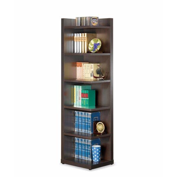 Review Hoisington Wooden Corner Bookcase