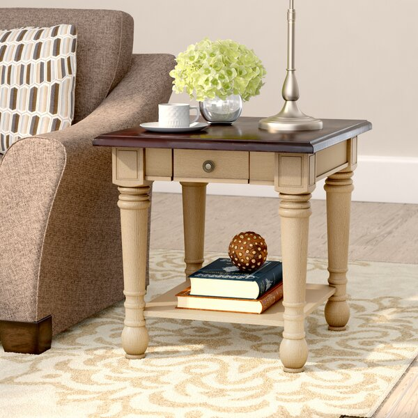Topher Classic Two Tone End Table With Storage By Andover Mills