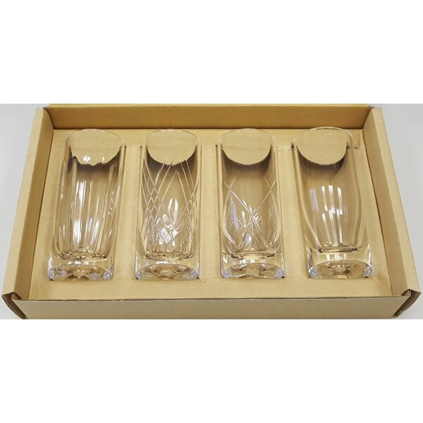 Chardae 6 oz. Acrylic Pint Glass (Set of 4) by Red Barrel Studio