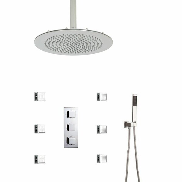 Atlantic Massage Volume Control Complete Shower System with Rough-in Valve by FontanaShowers FontanaShowers