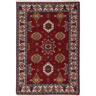 Best Price One-of-a-Kind Doering Hand-Knotted Wool Red Area Rug By Isabelline