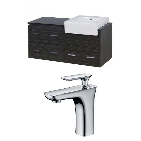 Hindman 49 Wall-Mounted Single Bathroom Vanity Set by Royal Purple Bath Kitchen