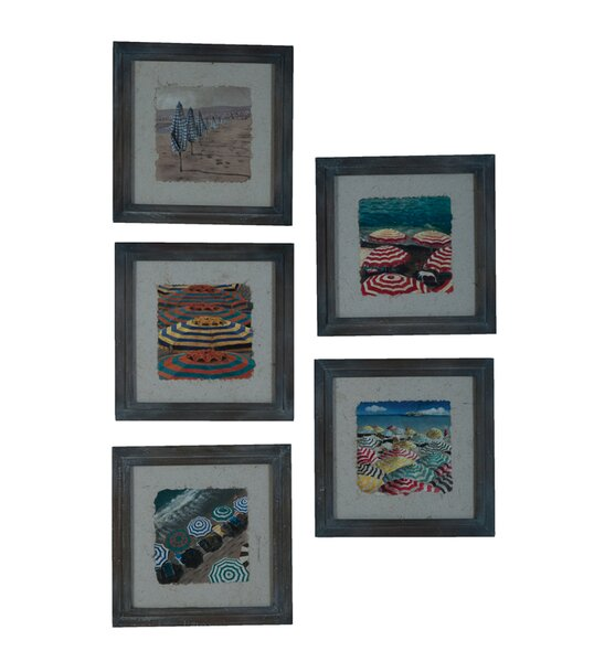 5 Piece Framed Graphic Art Set by Rosecliff Heights