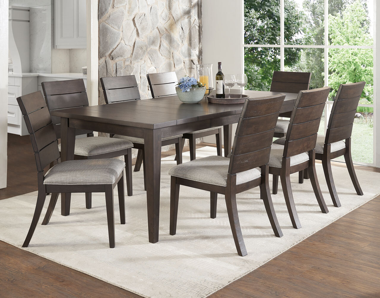 Gracie oaks wooton 9 piece extendable dining table set wayfair