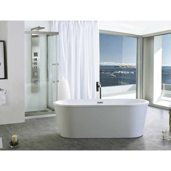 59 x 29.5 Freestanding Soaking Bathtub by Legion Furniture