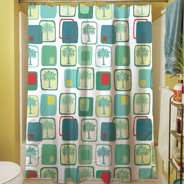 Deco Palm Shower Curtain by Manual Woodworkers & Weavers