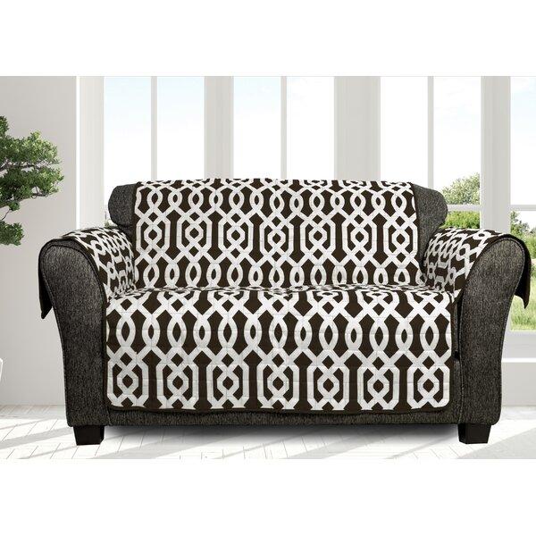 Printed Box Cushion Loveseat Slipcover by Alcott Hill