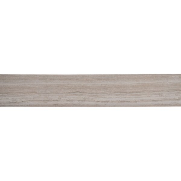 Charisma 18 x 3 Porcelain Bullnose Tile Trim in White by MSI