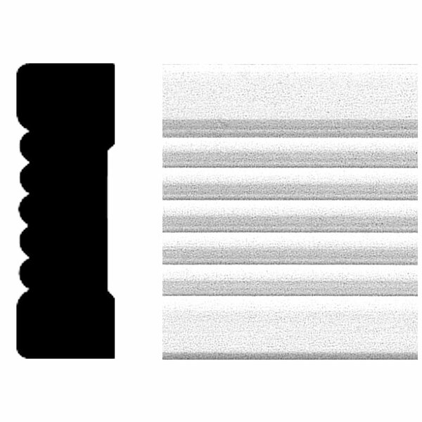 3/4 in. x 2-1/4 in. x 8 ft. MDF Fluted Casing Moulding by Manor House