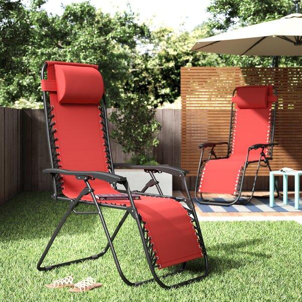 Koopman Dcor Reclining/Folding Zero Gravity Chair (Set of 2) by Latitude Run Latitude Run
