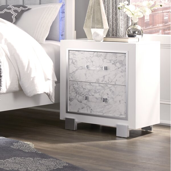 Faria 2 Drawer Nightstand by Everly Quinn