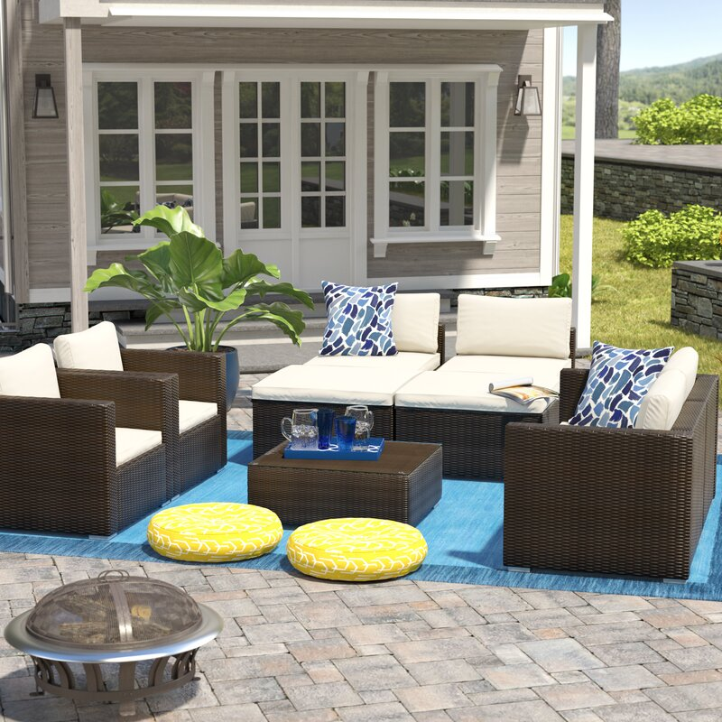 Benbow 8 Piece Sofa Set with Cushions