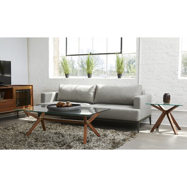 Moffitt Glass Coffee Table by Union Rustic Union Rustic