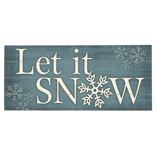 Let It Snow Graphic Art Print Multi-Piece Image on Wood by Artehouse LLC