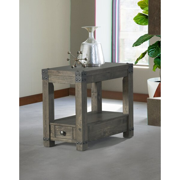 Josephine End Table with Storage by 17 Stories 17 Stories