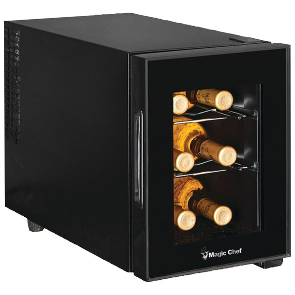 6 Bottle Single Zone Freestanding Wine Cooler by Magic Chef