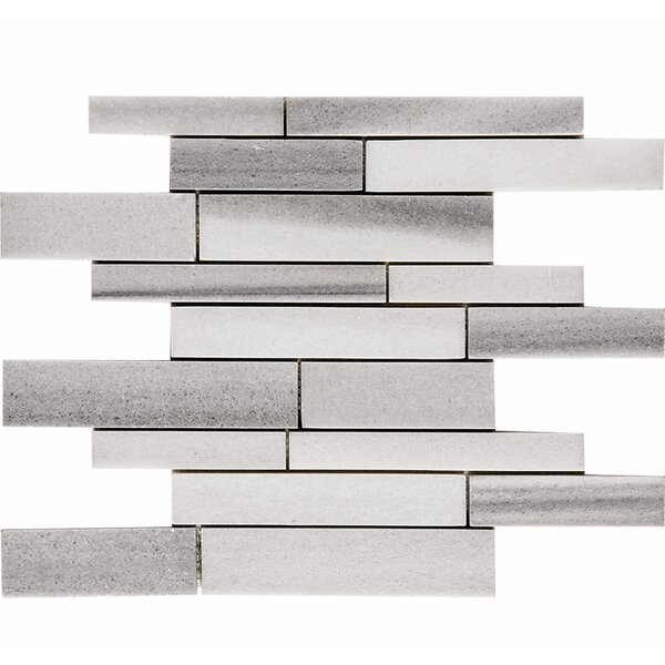 Horizon Atrium Random Sized Stone Mosaic Tile in White Polished by Parvatile
