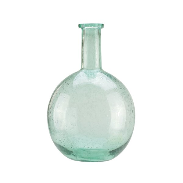Marine Inspired Round Hand Blown Bubble Glass Vase by Northlight Seasonal