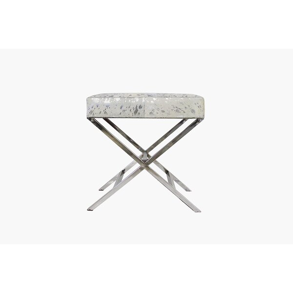 Forest Cowhide Vanity Stool by Pasargad