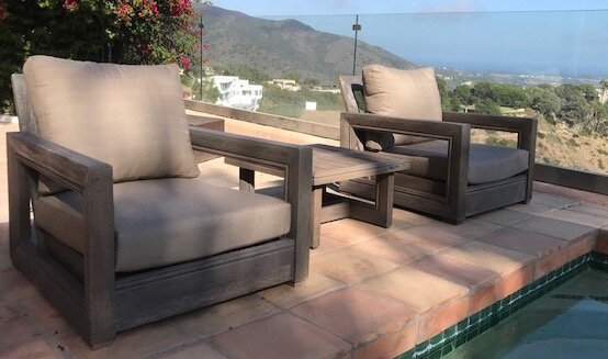 Yandell 3 Piece Teak Conversation Set with Sunbrella Cushions by Brayden Studio
