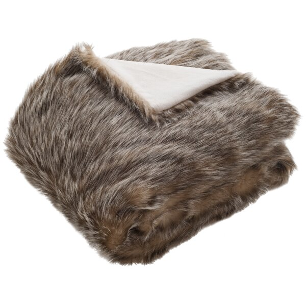 Nanette Fur Throw Blanket by Willa Arlo Interiors