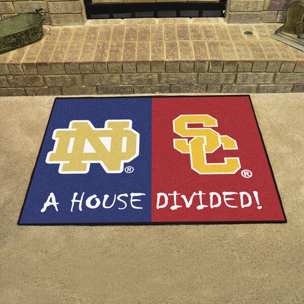 House Divided - Notre Dame / Southern Cal Doormat by FANMATS